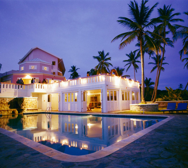 blue haven hotel tobago pool night view